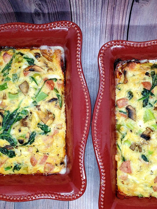 Sausage and Spinach Bake