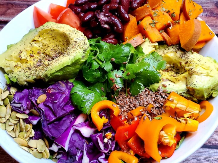 Sweet Potato and Red Bean Buddha Bowl