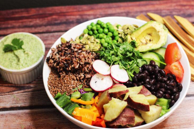Wild Rice and Black Bean Power Bowl