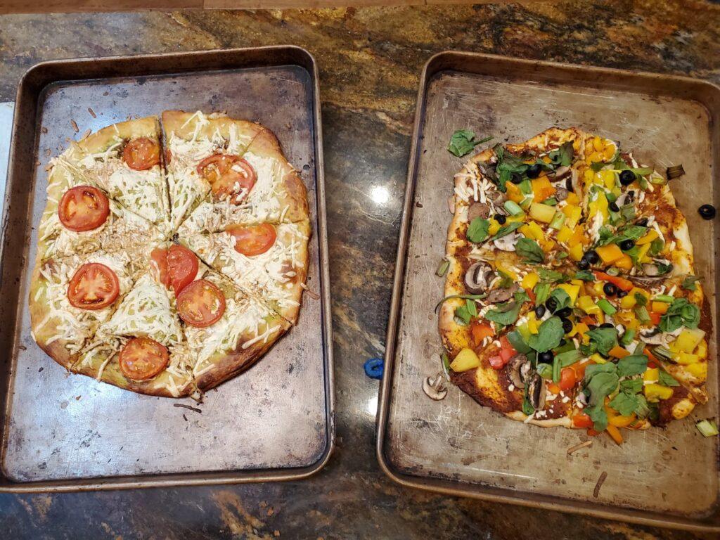 homemade pizza dough, vegan pizza dough, plant based pizza dough, homemade vegan pizza dough, oil free pizza dough, dairy free pizza dough, the best vegan and plant based pizza dough, homemade oil free pizza dough, the best homemade pizza dough, the best plant based vegan pizza dough, dairy free homemade pizza dough, pesto pizza, simple and easy homemade pizza dough, easy vegan pizza dough, veggie pizza,