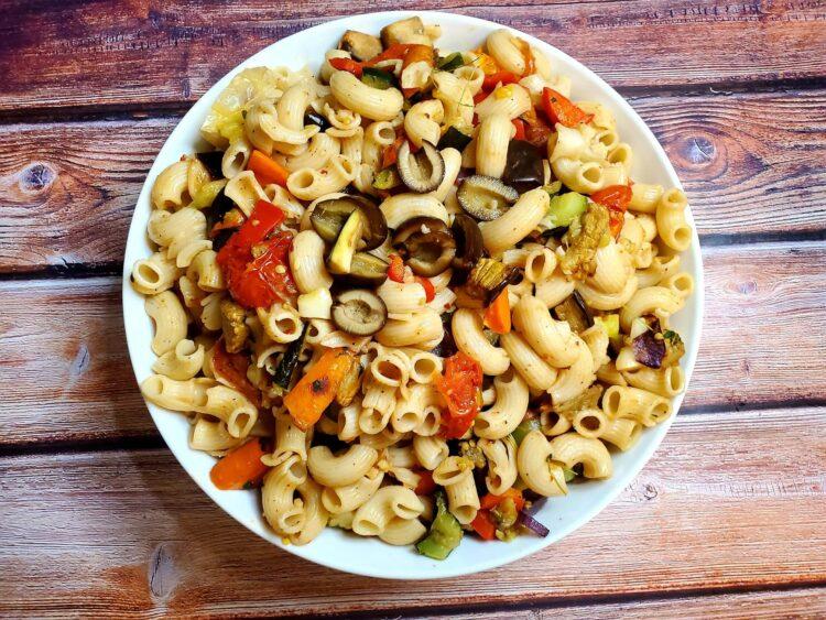 vegan plant based roasted veggie pasta, plant based diet, vegan diet, vegan recipes, vegan foods, vegan pasta